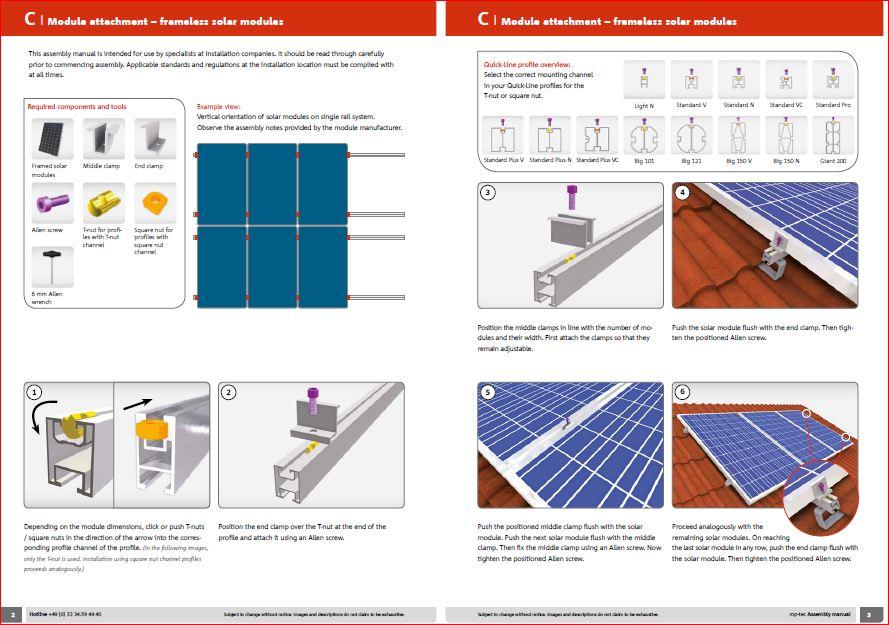 Кріплення для 40 сонячних панелей MP tec Німеччина (алюміній)