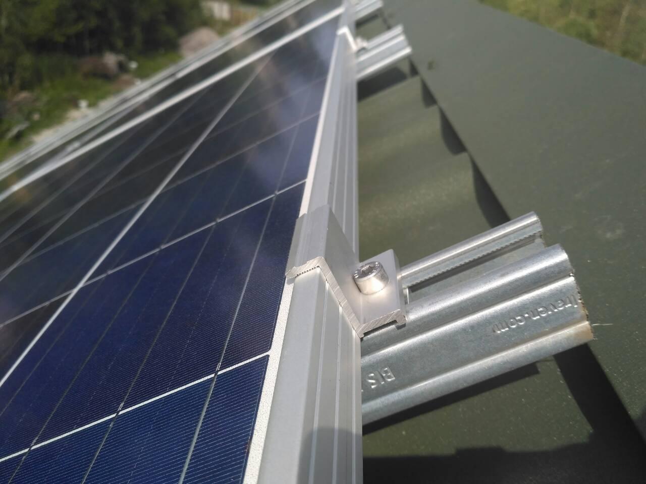 Кріплення для 60 сонячних панелей Walraven (оцинкована сталь)
