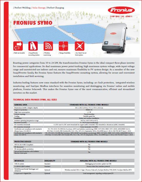 Мережевий інвертор Fronius Symo 10.0-3-M