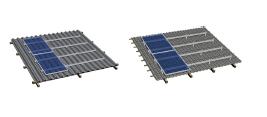 Система кріплень сонячних панелей на 40 модулів