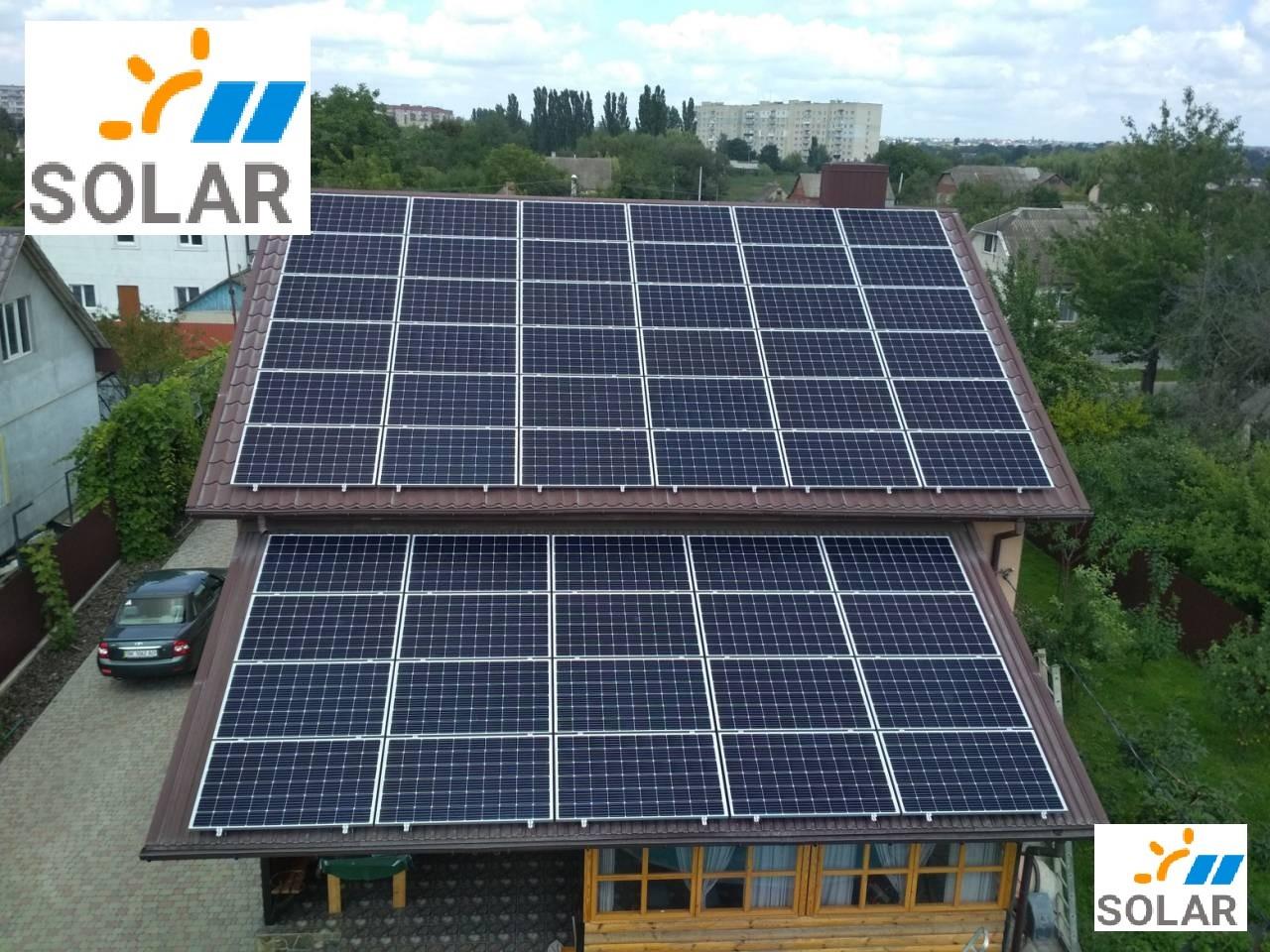 Мережева сонячна станція 30 кВт з енергомоніторингом МАКСИМУМ комплект