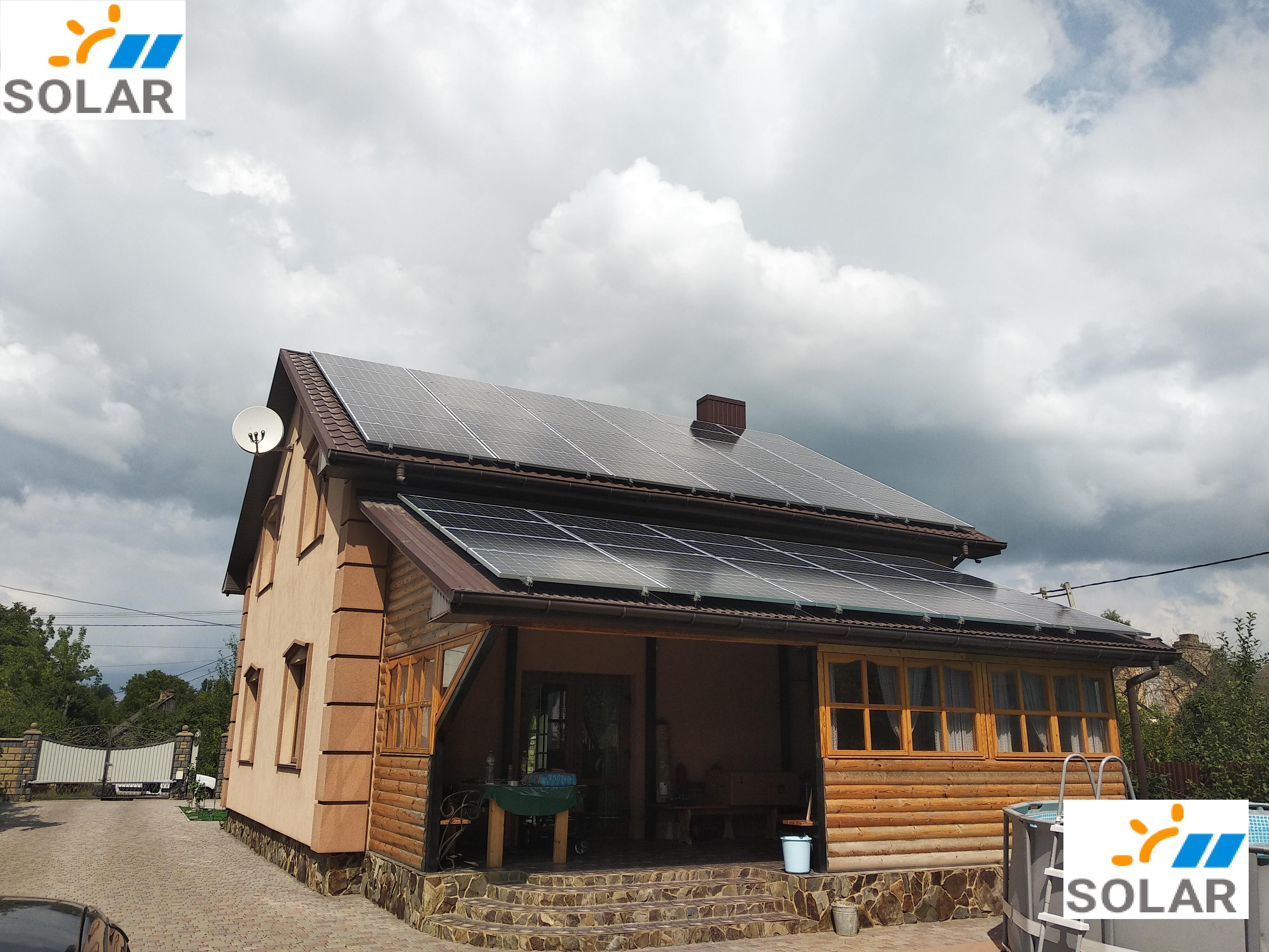 """Мережева сонячна станція 30 кВт ОПТИМУМ """"під ключ"""""""
