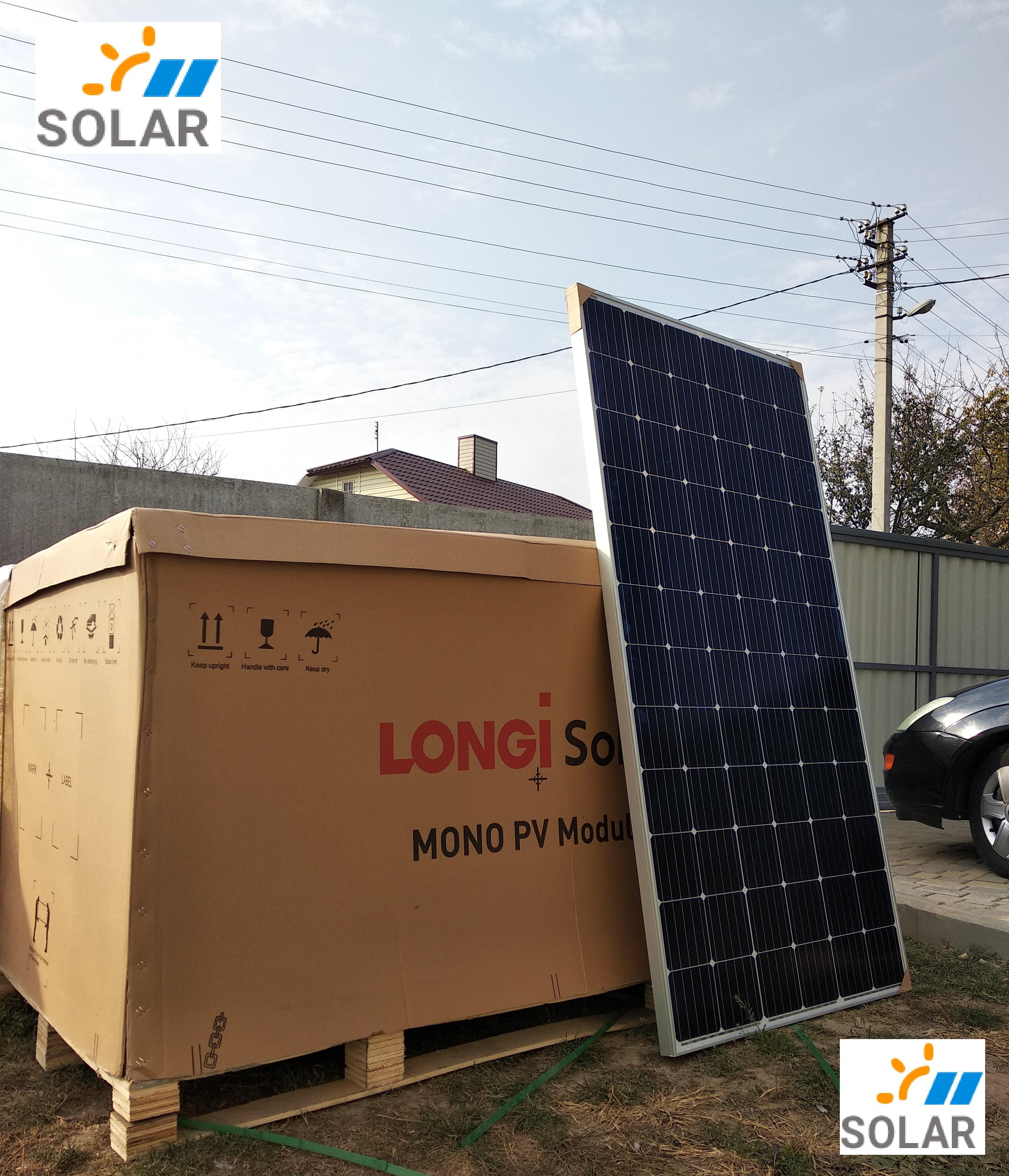 Сонячна панель монокристал LONGI SOLAR LR6-72PE – 360 w PERC