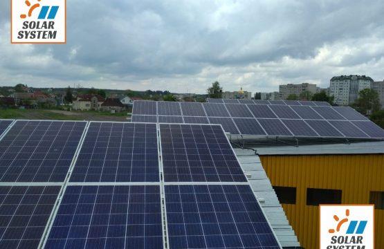 Сонячна станція під Зелений тариф Хмельницька область місто Нетішин (друга черга)