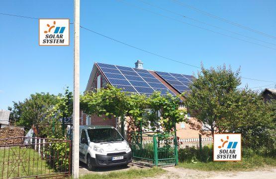 Сонячна електростанція потужністю 15 кіловат місто Костопіль