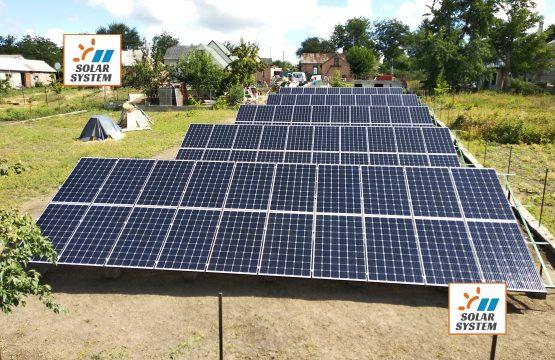 Супер продуктивна сонячна станція на монокристалах 31,5 кіловат