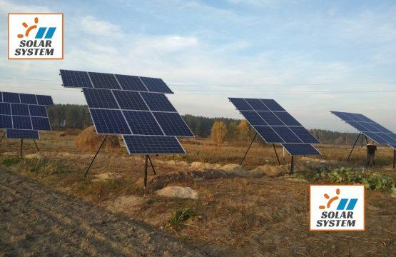 Сонячна станція на поворотній конструкції /// Монокристалічні сонячні панелі та інвертор Huawei серії MO