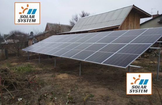 Мережева сонячна станція на 6,6 кіловат з можливістю розширення до 30 кВт