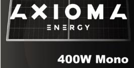 Сонячна панель AXIOMA Energy AXM144-9-158-400, 9BB