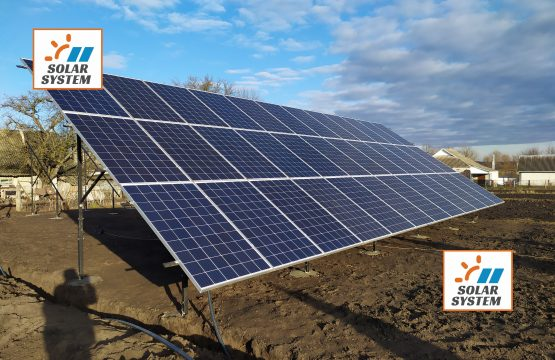 Сонячна електростанція на наземній конструкції // Полікристалічні панелі та інвертор Huawei Huawei SUN2000-33KTL-A