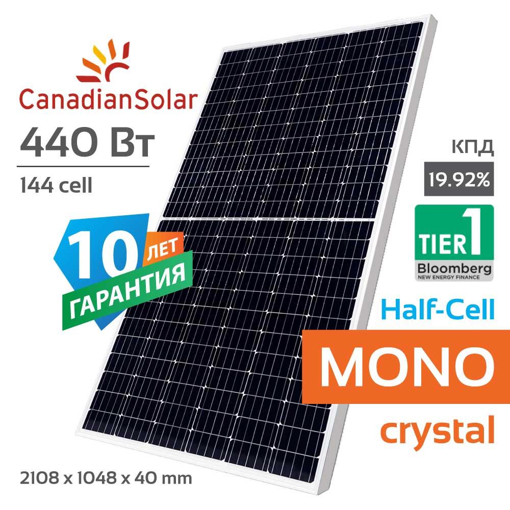 Солнечная панель Canadian Solar CS3W 440 W HiKu Mono PERC