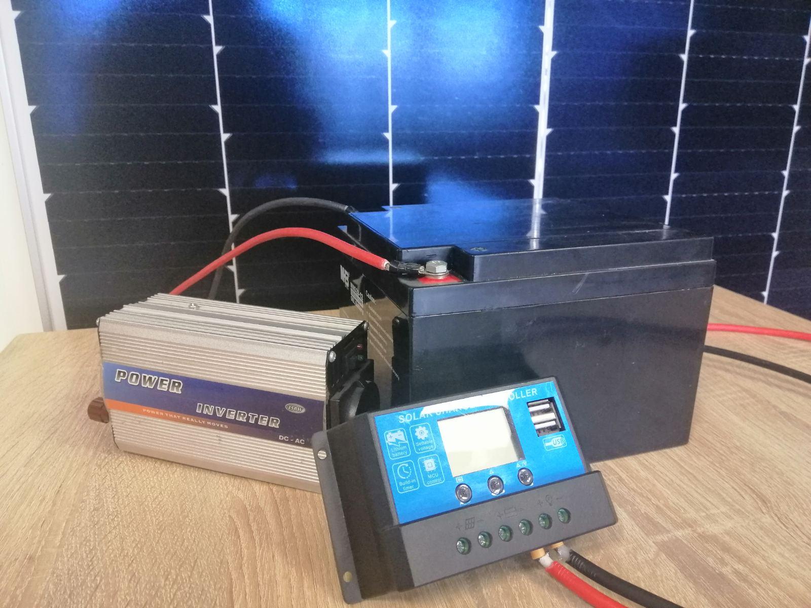 Сонячні панелі для туризму з акумулятором (автономна сонячна станція)