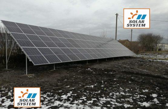 Сонячна станція потужністю 30 кВт Зелений тариф Друга черга 2020 Тернопільська область