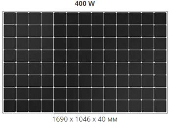 Сонячна панель монокристал Sunpower MAXEON 3 – 400W
