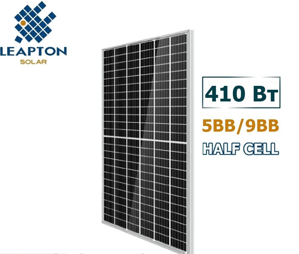 Солнечная панель LEAPTON LP-М-72-H/МН-410 HALF CELL 9BB МОНОКРИСТАЛ П