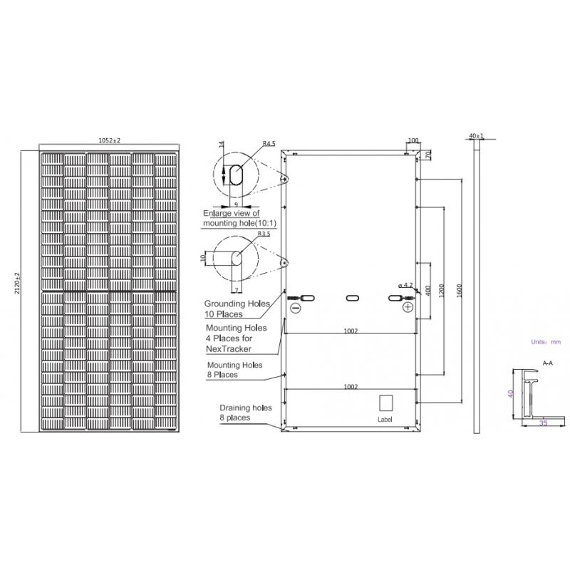 Сонячна панель JA Solar 445 / 72c Мono perc 9 ВВ (bifacial)