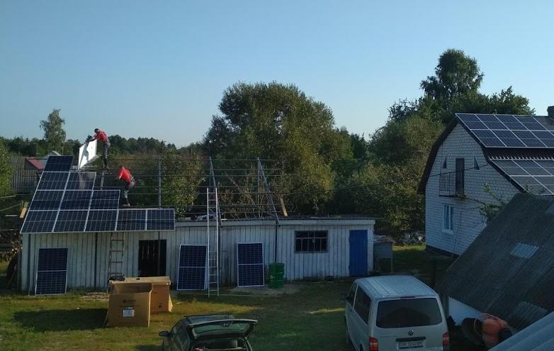 Дахова система кріплення для сонячних панелей в кількості 84-ох шт (30 кВт) з оцинкованої сталі