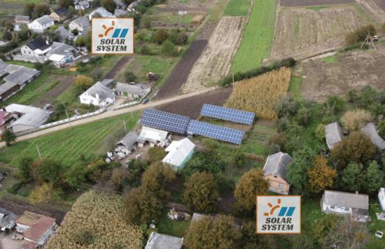 Мережева сонячна станція під Зелений тариф на 30 кВт /// Дубенський район