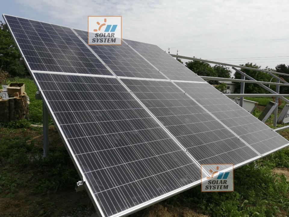Наземна система кріплення для сонячних панелей в кількості 84 шт (30 кВт) з оцинкованої сталі