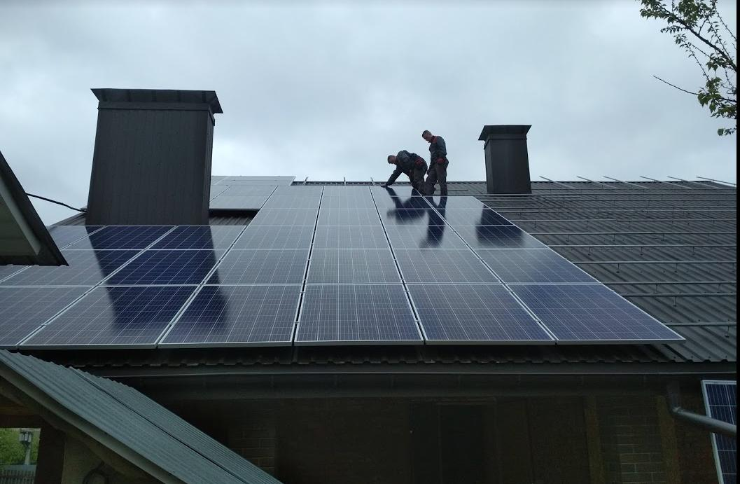 Система крепления для солнечных панелей 30-ти шт (10 кВт) на крыше из алюминиевого профиля