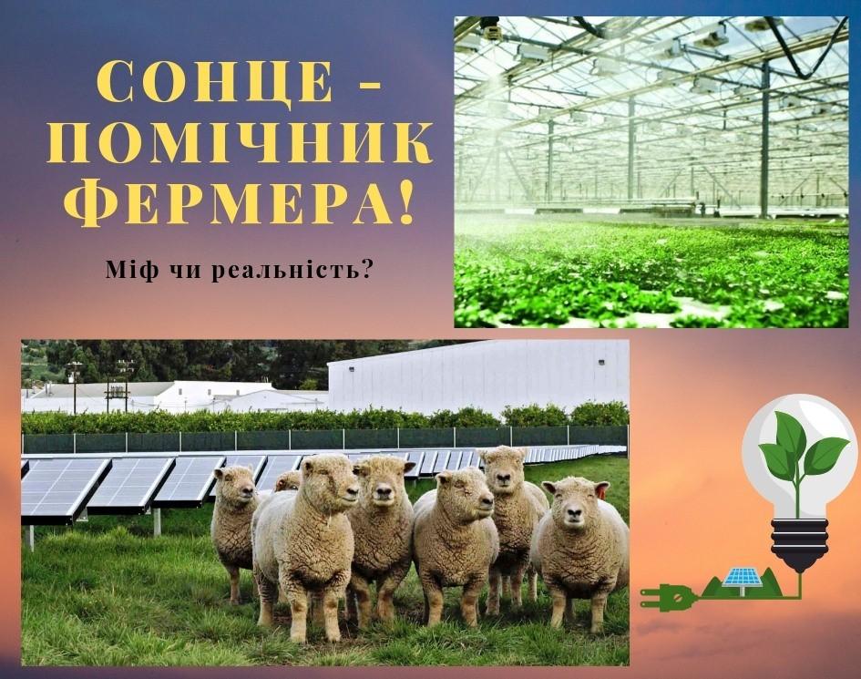 Сонячна енергія - помічник фермера. Міф чи реальність?
