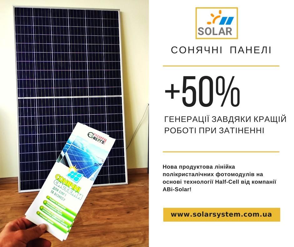 Сонячна панель AbiSolar: Сонячні панелі, що не бояться затінку