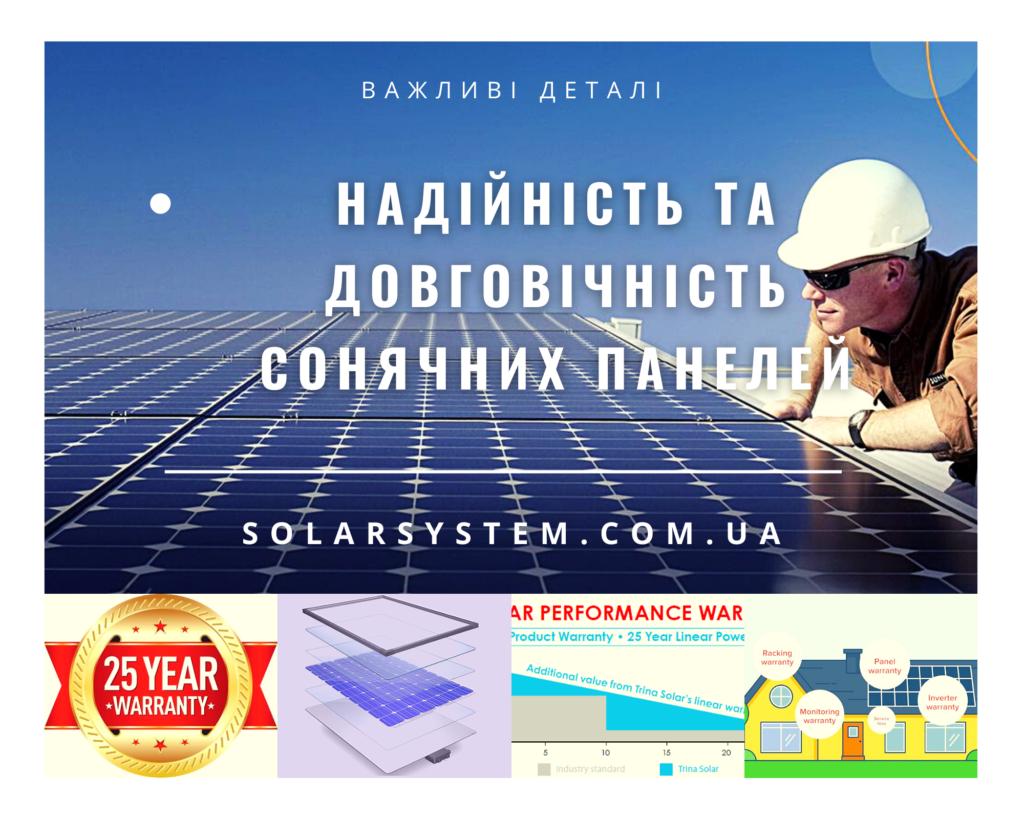 Надійність та довговічність сонячних панелей